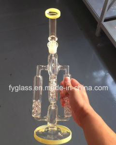 New Luxious Glass Water Pipe with American Color Mouthpice and Bottom pictures & photos
