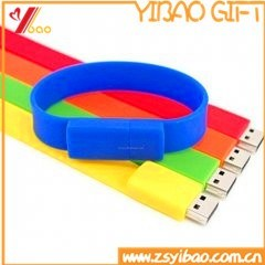 High Quantity 32GB USB Silicone Wristband for Promotion Gift (XY-BR-02) pictures & photos