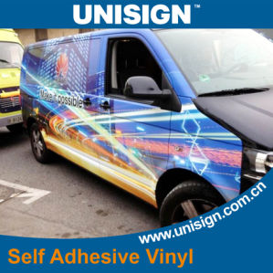 Self Adhesive Vinyl for Car Body Advertising (grey back) pictures & photos