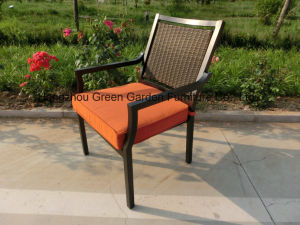 Patio Garden Furniture Dining Set with Ceramic Table & Wicker Chair pictures & photos