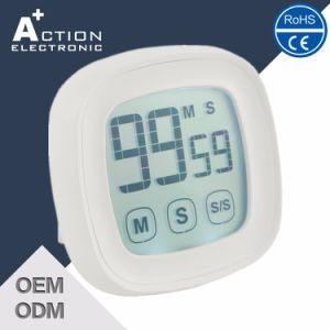 Touch Setting Digital 99′59′′count up and Count Down Kitchen Timer pictures & photos