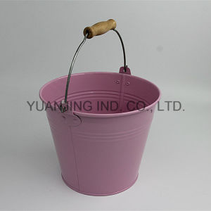 Hot Sale Metal Garden Tool Pink Bucket pictures & photos