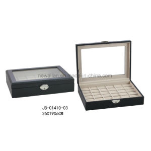 Ring Display Cream PU Leather Jewelry Box pictures & photos