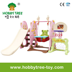 2017 Six Functionsl Indoor Play Set with Slide and Football (HBS17019D) pictures & photos