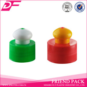 24/410 28/410 Ribbed Plastic Push Pull Cap for Bottle