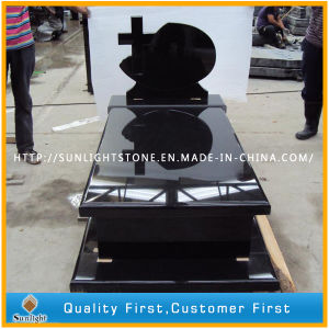 Poland Style Shanxi Black Gravestone and Tombstone pictures & photos