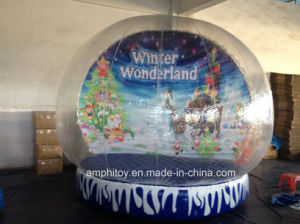 New Year Snow Globe Inflatable for Christmas, Advertising