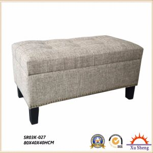 Wooden Retangular Lift Top Storage Bench with Tufted Accents with Nailhead Trim Living Room Furniture pictures & photos