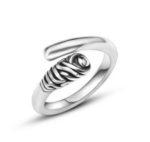Bright Silver Men′s Cuff Ring Titanium Steel pictures & photos
