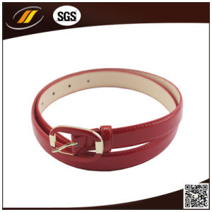 Good Price Fake Leather Woman Belt Custom Red PU Leather Belt