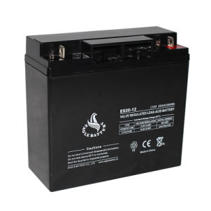 12V 20ah VRLA AGM Storage Rechargeable Lead Acid Mf Battery pictures & photos