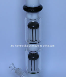 Milky White & Black Glass Water Pipes/Tobacco Pipes/Smoking Glasspipe with Double Tree Perc pictures & photos