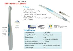Dental Wire USB Intraoral Cameras with Zoom Function pictures & photos