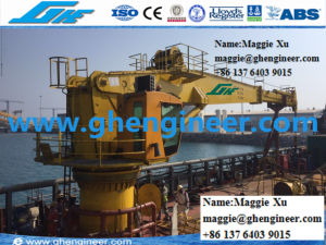 3t40m Telescopic Offshore Hydraulic Marine Crane pictures & photos