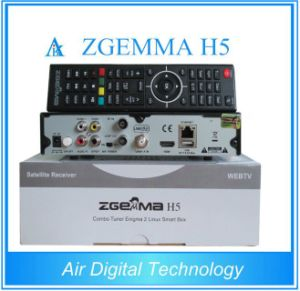 Full in Stock! Air Digital Zgemma H5 Satellite Receiver Linux OS Enigma2 DVB-S2+T2/C H. 265 Twin Tuners pictures & photos