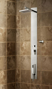 Stainless Steel Panel Shower Column with Brass Hand Shower (K2610) pictures & photos