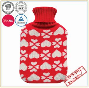 Heart Shape Design Hot Water Bottle Cover pictures & photos