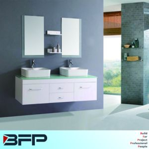 Hot Sale Design Two Basin Vanity Cabinet pictures & photos