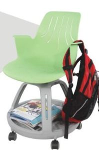 Plastic Node Chair Training Chairs with Writing Table on Castors pictures & photos