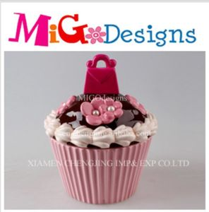 Wholesale Sweet Genre Ceramic Cupcake Cookie Canister pictures & photos
