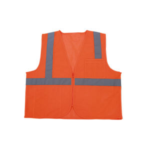 Hi Visible Reflective Warning Mesh Security Vest Zipper
