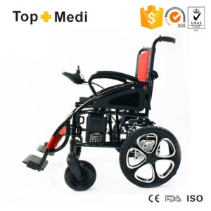 Topmedi Handicapped Cheap Price Foldable Power Electric Wheelchair China pictures & photos