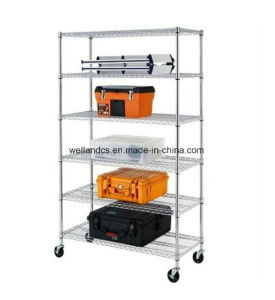 NSF Approval Adjustable Chrome Steel Garage Tools Storage Rack Shelf pictures & photos