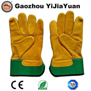 Industrial Safety Leather Hand Work Gloves for Wholesale pictures & photos