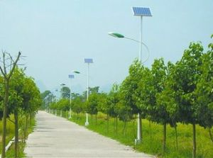 Solar Pillar Light Ce CCC Certification Approved Aluminium Solar Street Light pictures & photos