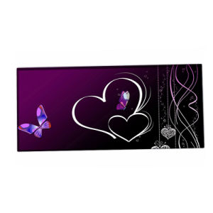 Butter Fly Purple Gaming Anti-Fray Cloth Gaming Mouse Pad, Extended pictures & photos