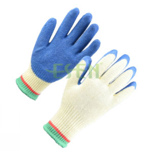 Seeway Work  Gloves  Cotton Welding  Gloves  Latex  Palmcoated  Gloves pictures & photos