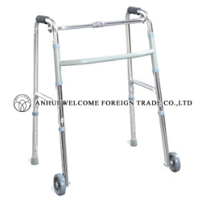 Aluminum Folding Height Adjustable Walker pictures & photos