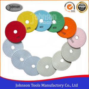 100mm Diamond White Wet Resin Polishing Pad for Stone pictures & photos