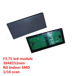 F3.75 Indoor SMD Rg LED Module Pixels Pixels Is 64X32 Size Is 304X152mm, 1/16 Scan P4.75 with Hub08 pictures & photos