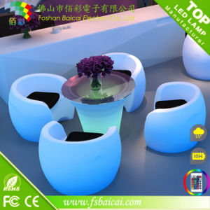 KTV Nightclub Party Events Round Table LED Furniture