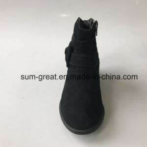 Comfortable Fashion Ankle Women Boots with Cemented TPR Outsole 042