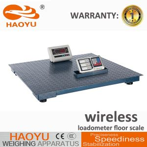 Wireless Loadometer Electronic Weighing Floor Scale with Pattem Steel Platform pictures & photos