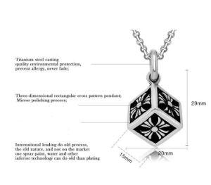 Titanium Steel Cube Necklace Pendant Men Fashion Jewelry pictures & photos