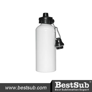 600ml Aluminium Water Bottle with Two Tops (White) pictures & photos