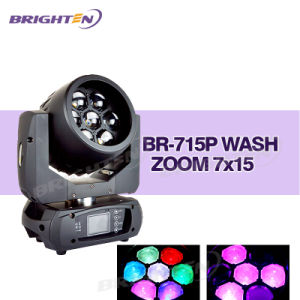 Mini 7*15W LED Mini Moving Head Wash Stage Lighting (BR-715P) pictures & photos