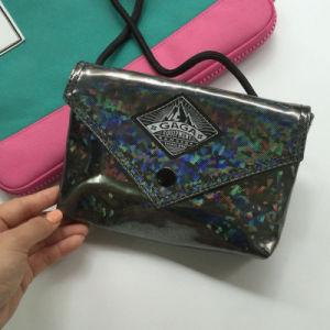 Flash Patterns Simple Black Hasp Shoulder Bag (M009-21) pictures & photos