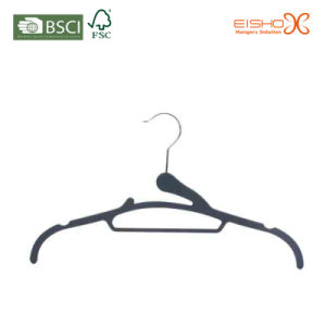 Hight Quality Soft Velvet Clothes Hanger (3HLH0013) pictures & photos