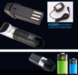 Home Manual Electric Recharge Battery Adult Child Children Kid Hair Trimmer pictures & photos