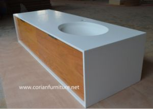 Corian Shell Solid Wood Bathroom Vanity pictures & photos