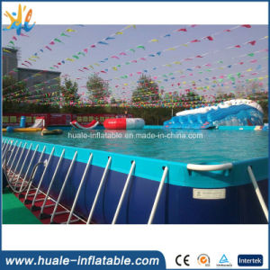 Customized Rectangular Metal Frame Pool Steel Plastic Swimming Water Pools pictures & photos