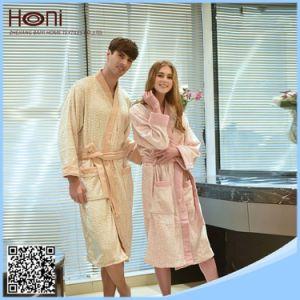 China Wholesale 100% Cotton Couples Jacquard Bathrobe pictures & photos