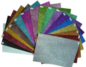 High Quality Glitter Does Not Fall Glitter Cardboard Glitter Paper pictures & photos