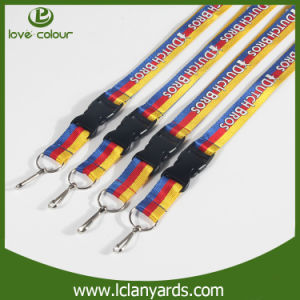 Custom Fashion Rainbow Lanyard with Swivel Hook Screen Printed pictures & photos