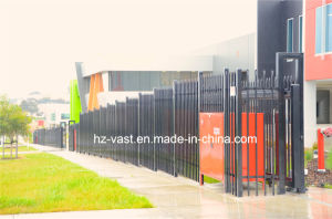 High-Quality Exterior Security Sliding Wrought Iron Fence Gate pictures & photos