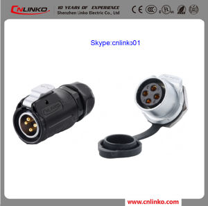 Waterproof 4pin Power Application Electrical Connector Plug and Socket Connector for LED Light pictures & photos
